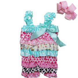 Baby Jumpsuit Pastel + haarband