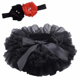 Tutu zwart + luxe haarband