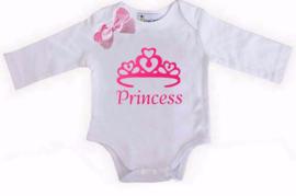 Princess lang/korte mouw wit