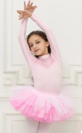 Balletpak roze/pink kant