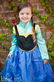 Frozen jurk prinses Anna