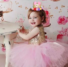 Feestjurk Riley roze
