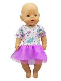 zeemeermin poppen jurkje paars