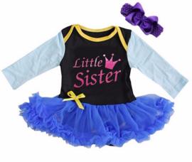 Frozen Anna Little Sister  longsleeve + haarband