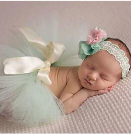 Newborn tutu mint +  kant haarband