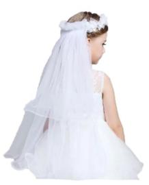 Kinder bruidssluier wit