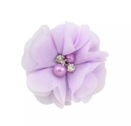 Haarclip bloem lila