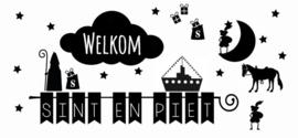 Raamsticker Welkom Sinterklaas