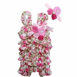 Jumpsuit Luxe Romantisch Roze + haarband