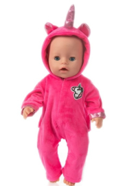 Unicorn baby poppen pakje pink (2-delig)
