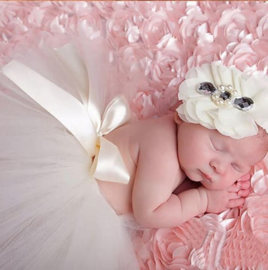 Newborn tutu wit + haarband