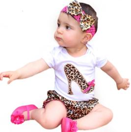 Babysetje luipaard schoen (3-delig)