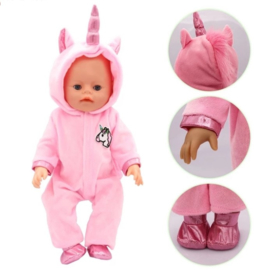 Unicorn baby poppen pakje roze (2-delig)