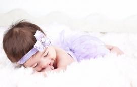 Luierbroekje tutu violet + haarband