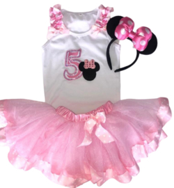 Minnie Mouse set tutu + diadeem (3-delig)
