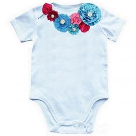 Baby shirt Pauwblauw