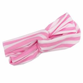 Knoop tulband roze