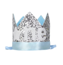 Haarband FROZEN kroon blauw ONE
