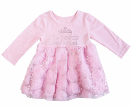 Princess Has Arrived glitter roze longsleeve