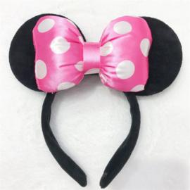 Minnie Mouse roze diadeem 3D luxe
