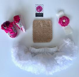 Babyset wit-goud-pink(4 delig)