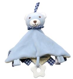 Knuffeldoek beer, blauw