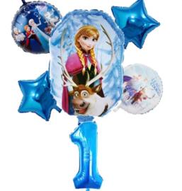 Frozen Ballonset 1 jaar (6-delig)