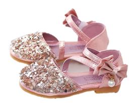 Prinsessen schoentjes rosé goud (mt 25)