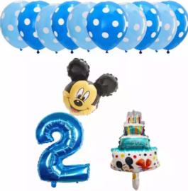 Mickey Mouse ballonnen 2 jaar (13-delig)
