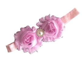 Haarband bloemen ROZE