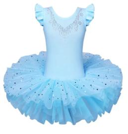 Balletpak blauw kort mouw