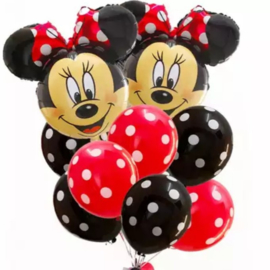Minnie Mouse ballon set RED (12-delig)