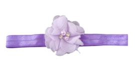 Haarband bloem klein, lila/lavendel