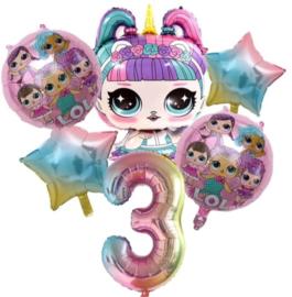 LOL folieballonnen, 6 stuks