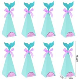Traktatiedoosjes zeemeermin lila