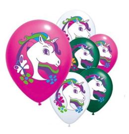 Unicorn Ballonnen - WIT - 3 stuks