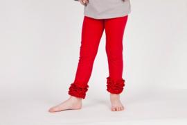 Legging rood ruffles