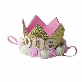 Haarband kroon goud One