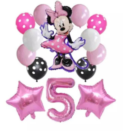 Minnie Mouse ballonnen 5 jaar (14-delig)
