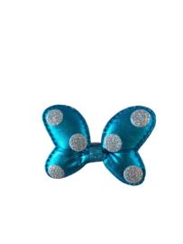 Minnie Mouse haarclip blauw/zilver