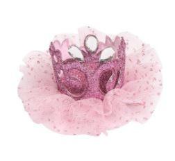 Luxe haarclip roze met steentjes