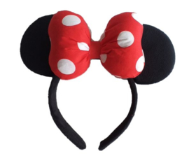 Minnie Mouse rood katoen diadeem 3D luxe