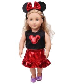 Minnie mouse setje rood (3-delig)