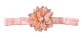 Haarband bloem klein, peach