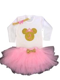 Minnie Mouse verjaardagset 2 jaar, (3-delig)