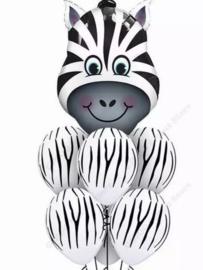 Ballonnenset Zebra, 7-delig