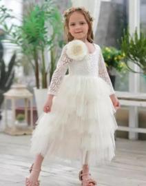 Romantisch jurk Bella wit
