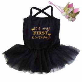 Verjaardag babyjurk It's my First Birthday