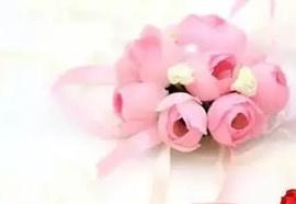 Polscorsagen roze bloemen satijn