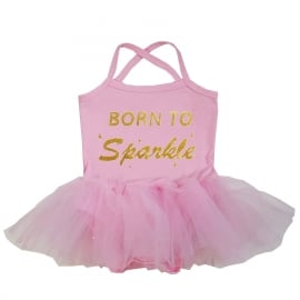 Babyjurk tutu roze Born to Sparkle
